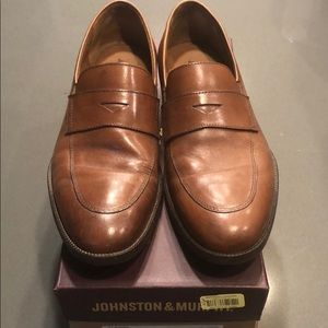 Johnston & Murphy Alcott Tan Calfskin